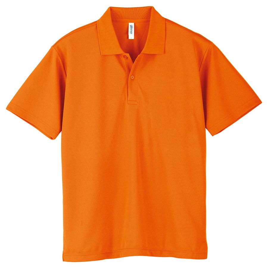 ドライポロシャツ ポケット無し 00302−ADP 015 オレンジ 3L〜5L
