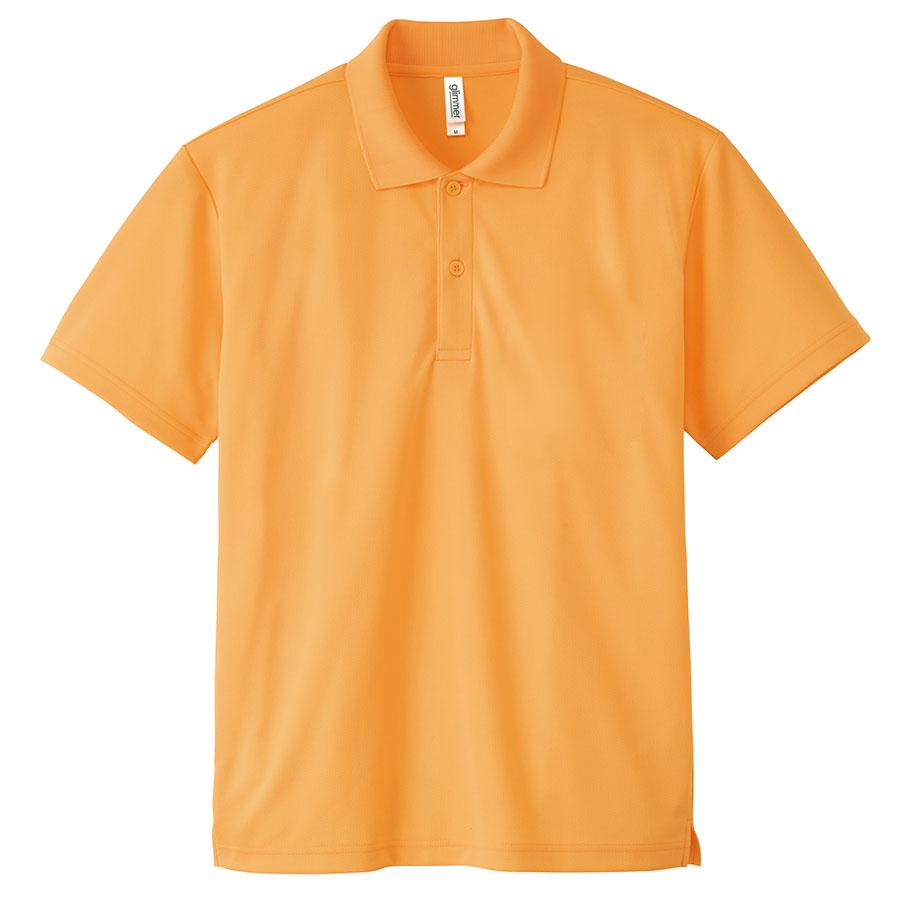 ドライポロシャツ ポケット無し 00302−ADP 189 ライトオレンジ 3L〜5L