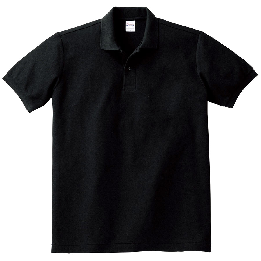 T/Cポロシャツ ポケット無し 00141−NVP 005 ブラック SS〜5L