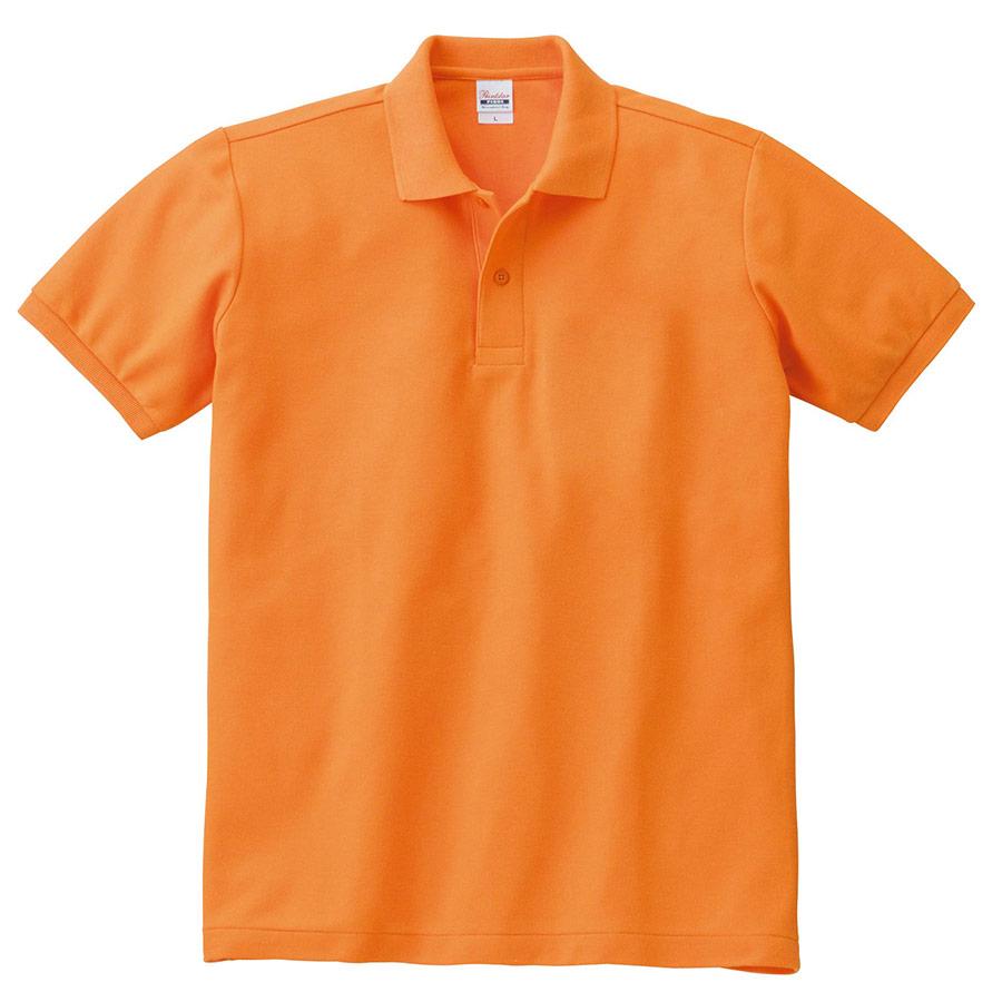 T/Cポロシャツ ポケット無し 00141−NVP 015 オレンジ 3L〜5L