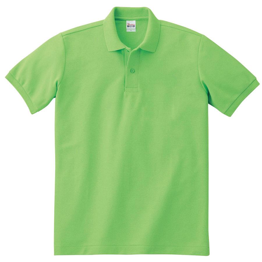 T/Cポロシャツ ポケット無し 00141−NVP 155 ライム SS〜LL