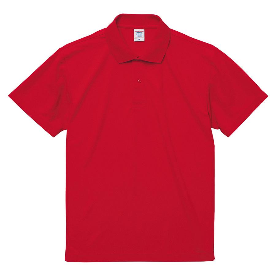 4.7oz スペシャル ドライ カノコ ポロシャツ(ローブリード)<アダルト> 2020−01 069 レッド
