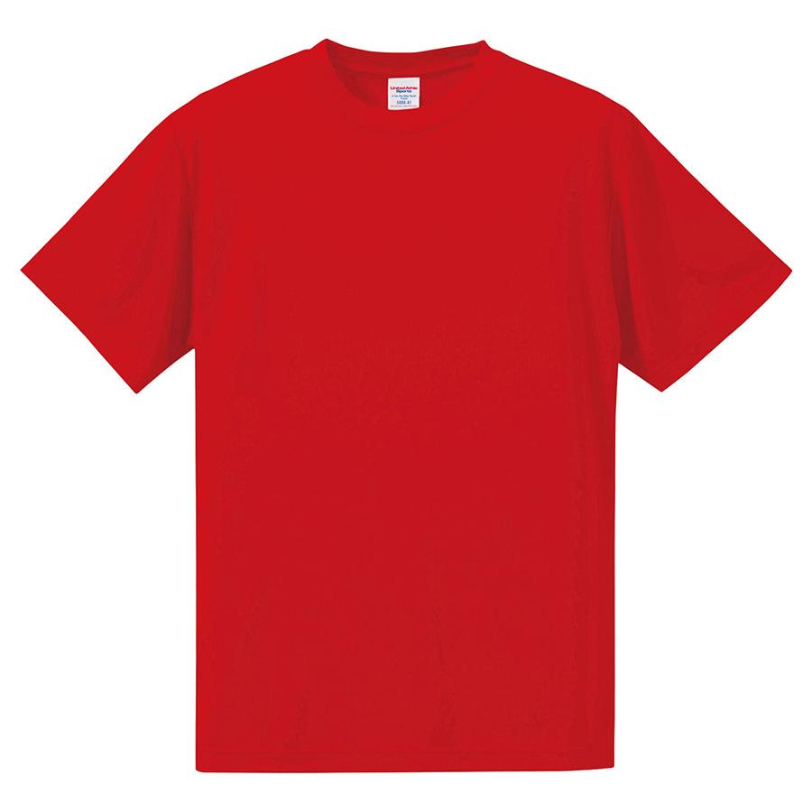 4.7oz ドライシルキータッチ Tシャツ (ローブリード)<アダルト> 5088−01 069 レッド
