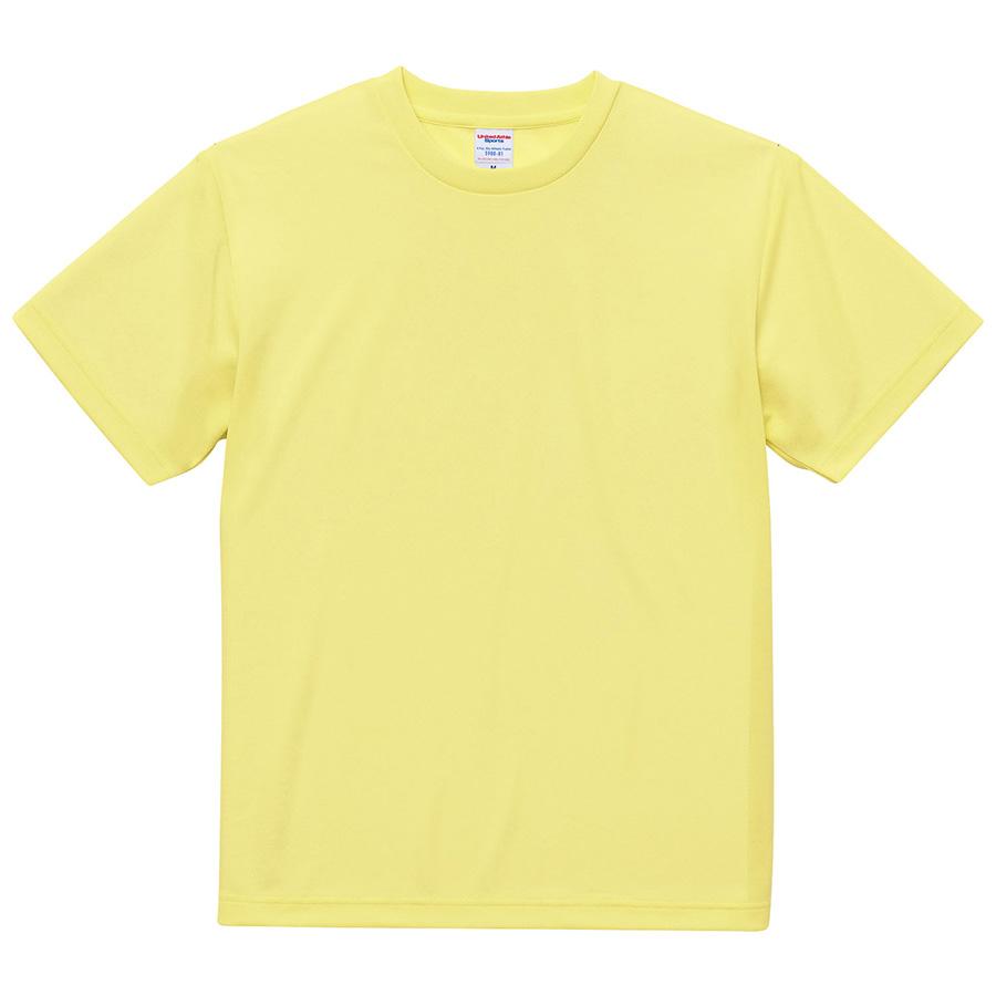 4.1oz ドライアスレチックTシャツ <アダルト> 5900−01 487 ライトイエロー
