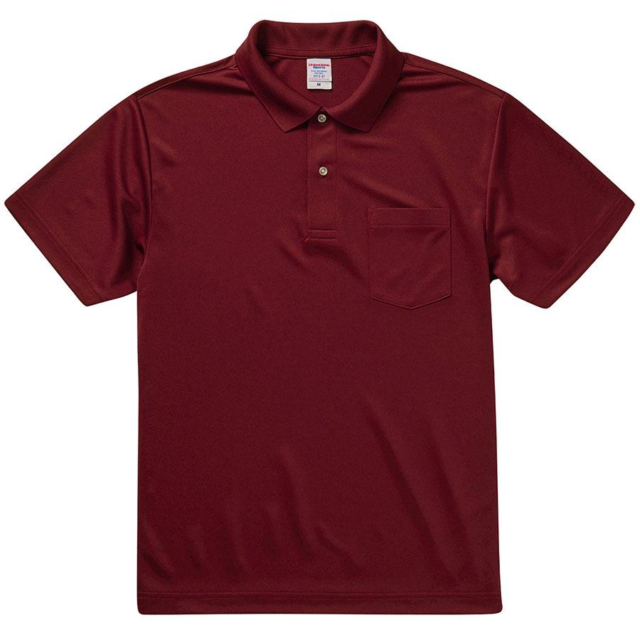 4.1oz ドライアスレチック ポロシャツ(ポケット付) 5912−01 072 バーガンディ