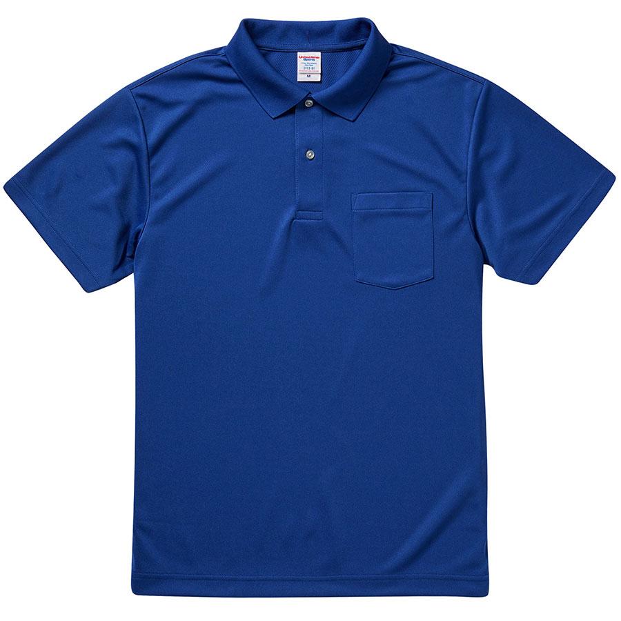 4.1oz ドライアスレチック ポロシャツ(ポケット付) 5912−01 084 コバルトブルー