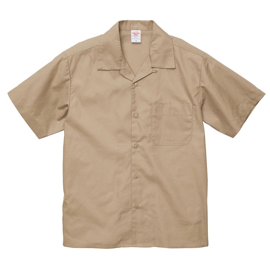 T/C オープンカラー シャツ 1759−01 747 モカベージュ