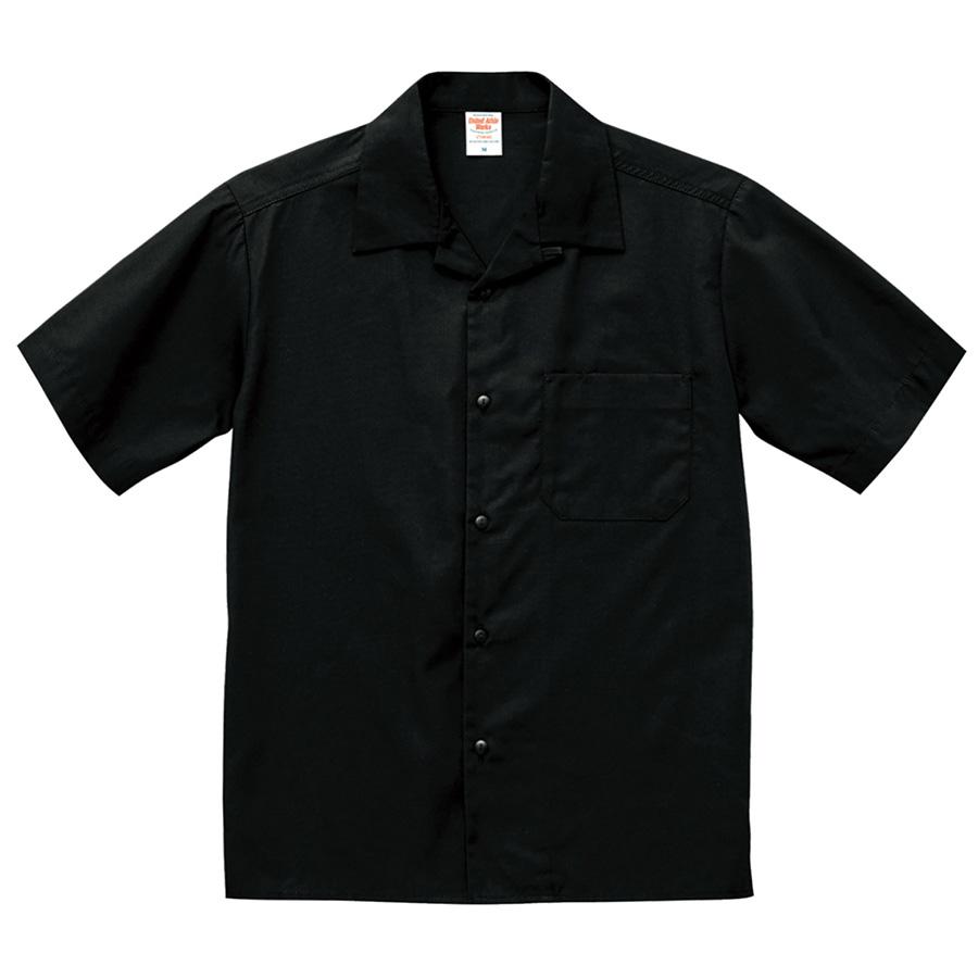 T/C オープンカラー シャツ 1759−01 002 ブラック
