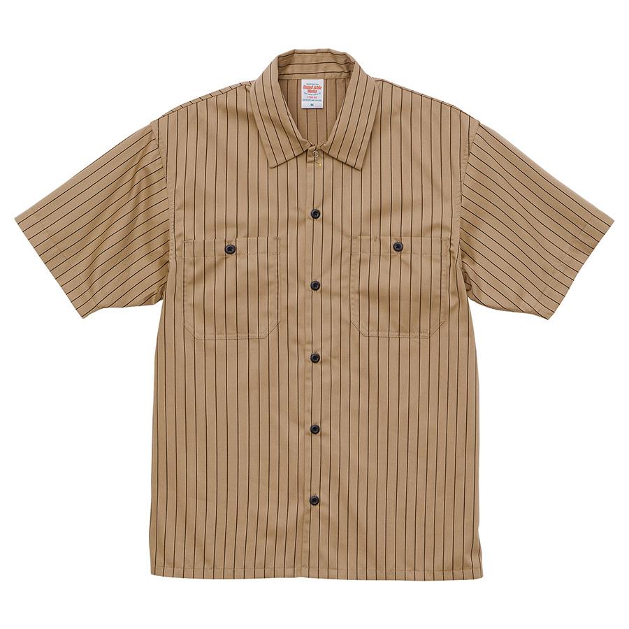 T/C ストライプ ワーク シャツ 1781−01 5040 オーカー/ブラウン