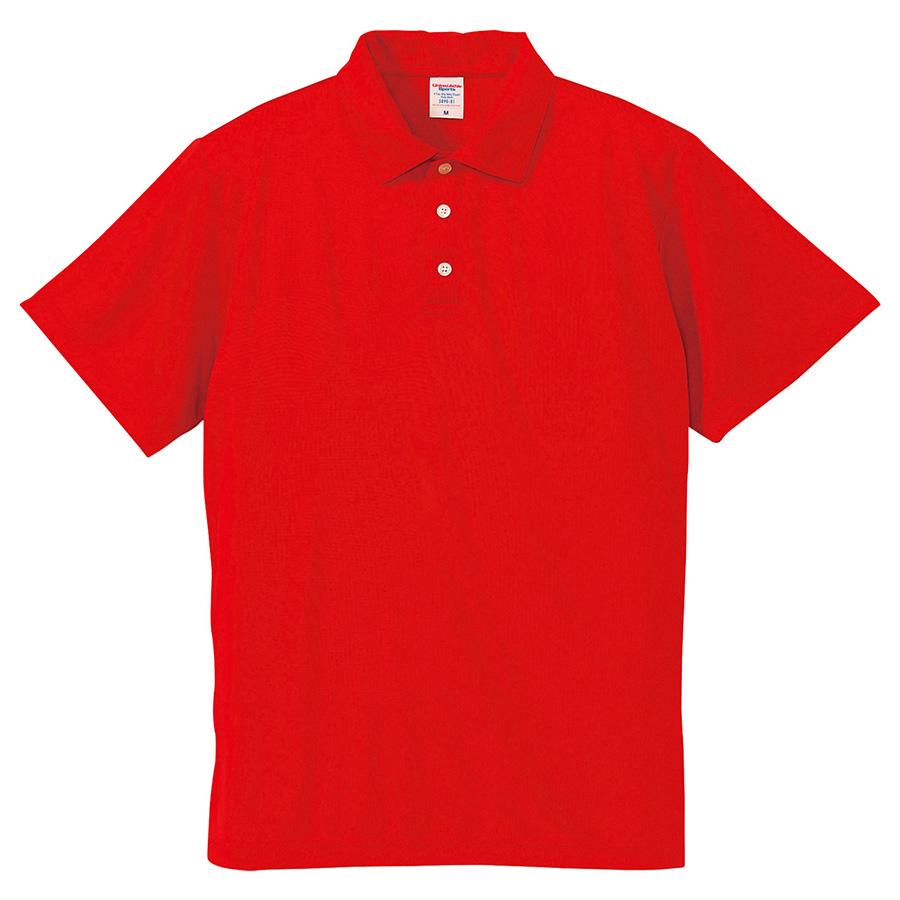 4.7oz ドライシルキータッチ ポロシャツ(ローブリード) 5090−01 069 レッド