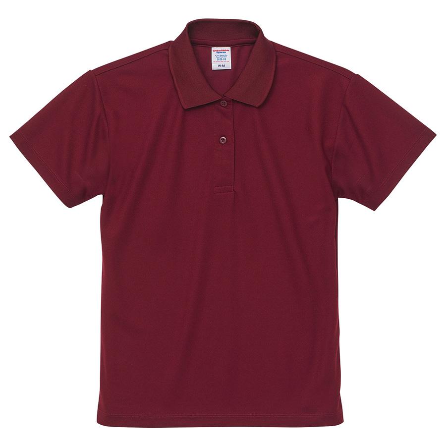 4.7oz スペシャル ドライ カノコ ポロシャツ(ローブリード)<ウィメンズ>2020−03 072 バーガンディ