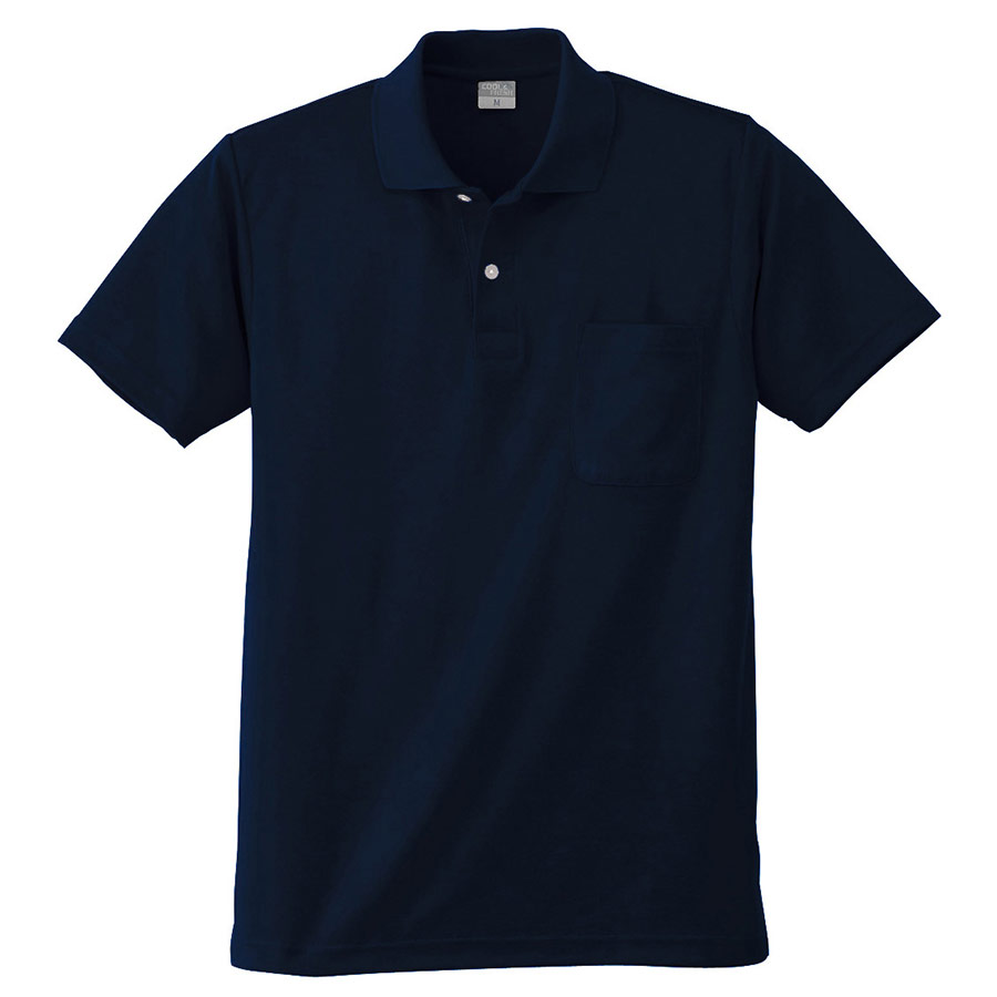 DRY 半袖ポロシャツ 9006 1 ネービー 6L