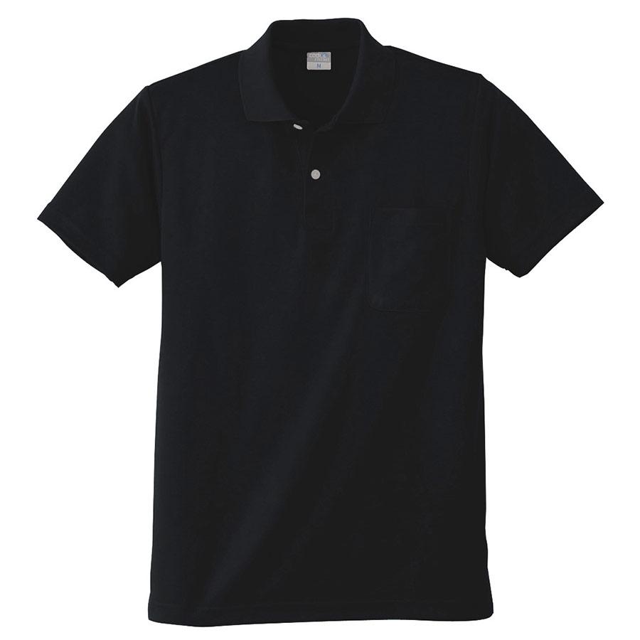 DRY 半袖ポロシャツ 9006 80 ブラック 6L・7L