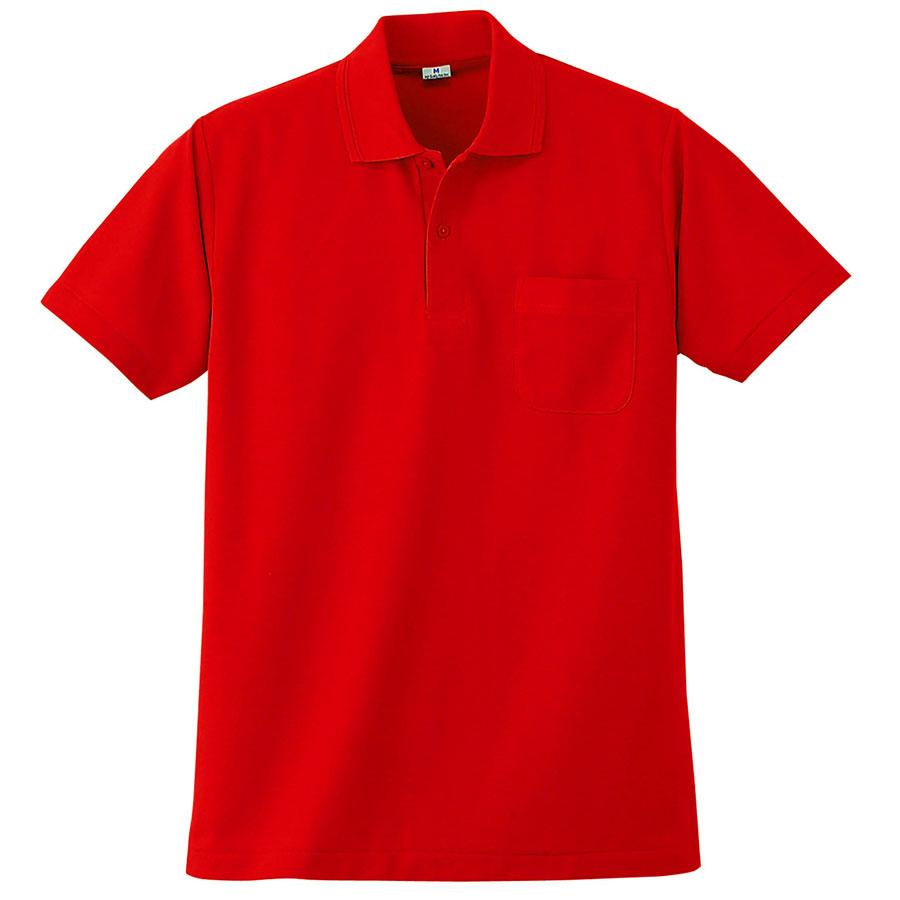 半袖ポロシャツ (胸ポケット付) K272 10 レッド