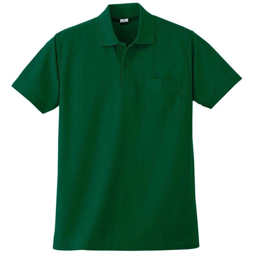 半袖ポロシャツ (胸ポケット付) K272 30 グリーン