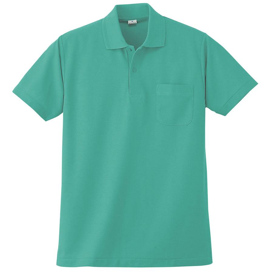 半袖ポロシャツ (胸ポケット付) K272 35 エメグリーン