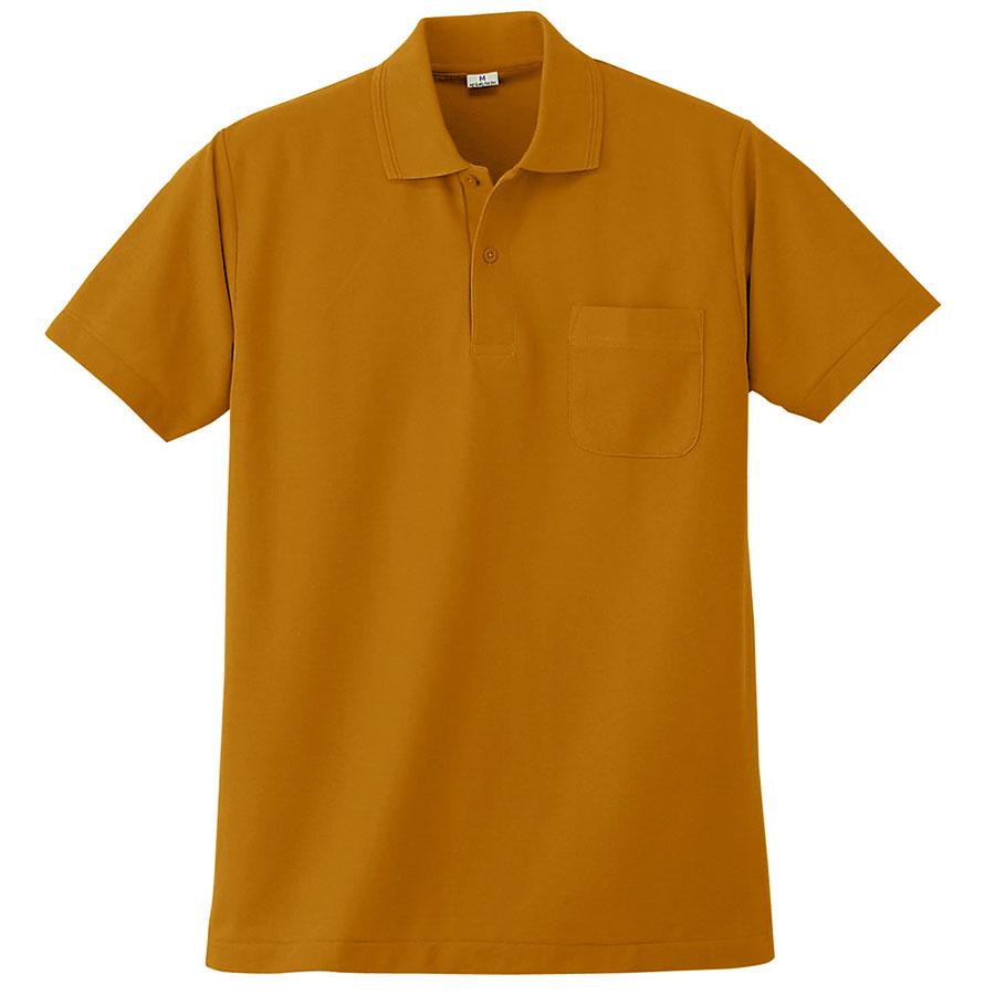 半袖ポロシャツ (胸ポケット付) K272 73 マスタード