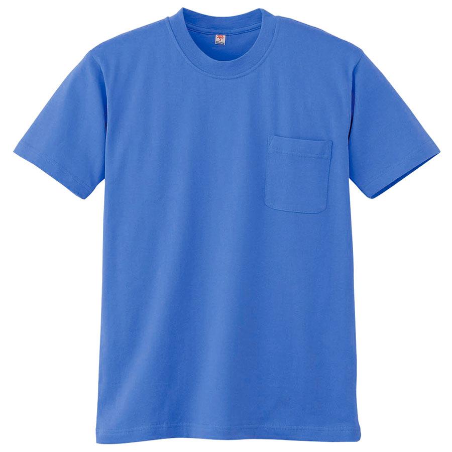 半袖Tシャツ (胸ポケット付) K3022 5 ブルー