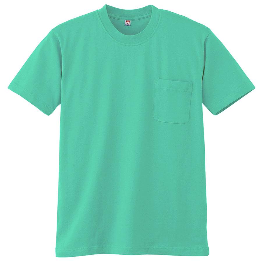 半袖Tシャツ (胸ポケット付) K3022 35 エメグリーン