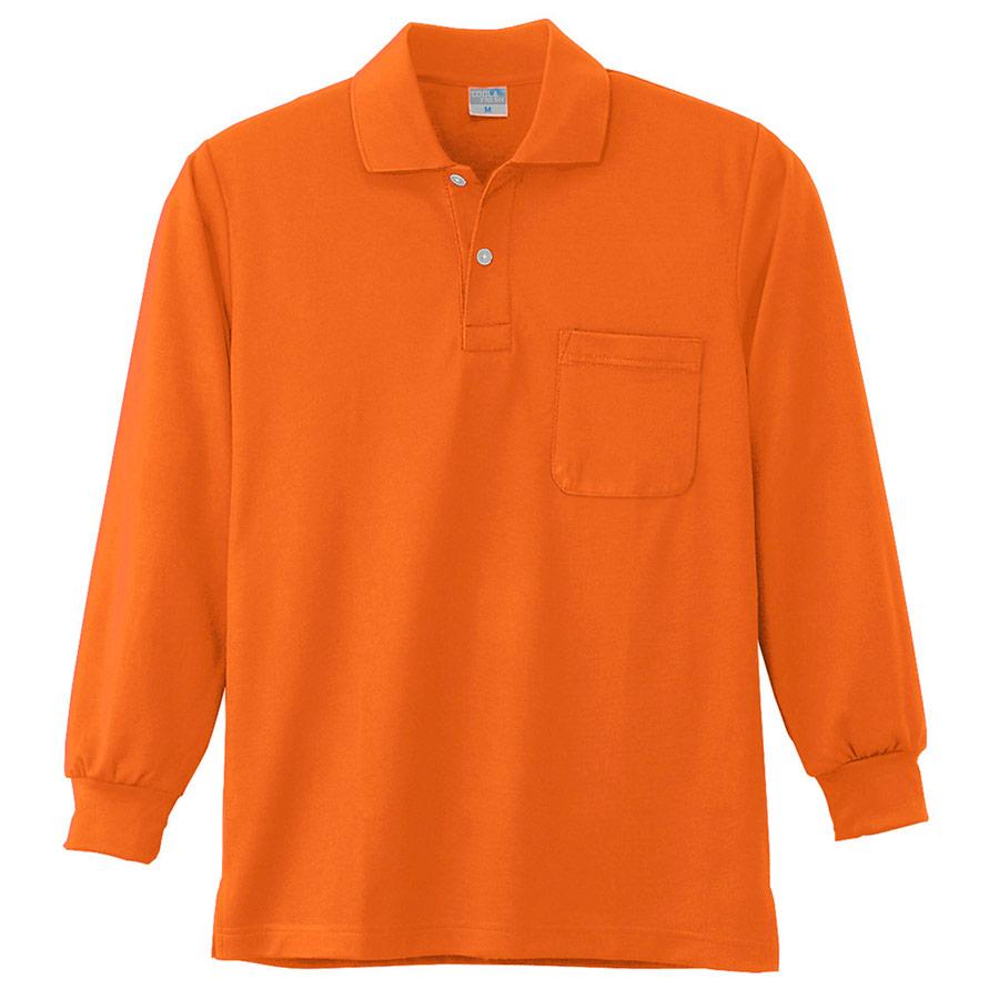 DRY 長袖ポロシャツ 9007 12 オレンジ SS〜5L