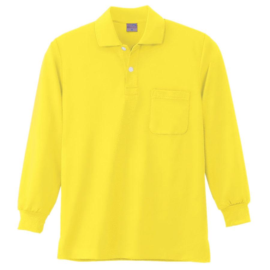 DRY 長袖ポロシャツ 9007 70 イエロー SS〜5L