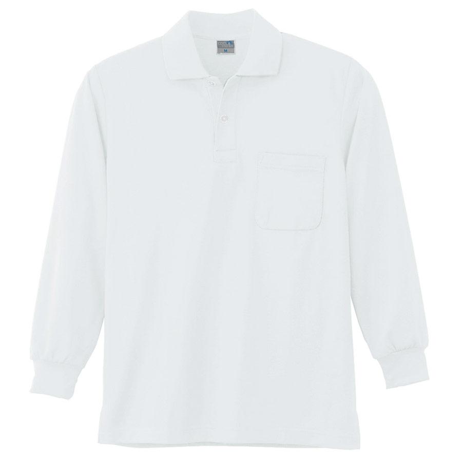 DRY 長袖ポロシャツ 9007 90 ホワイト 6L・7L