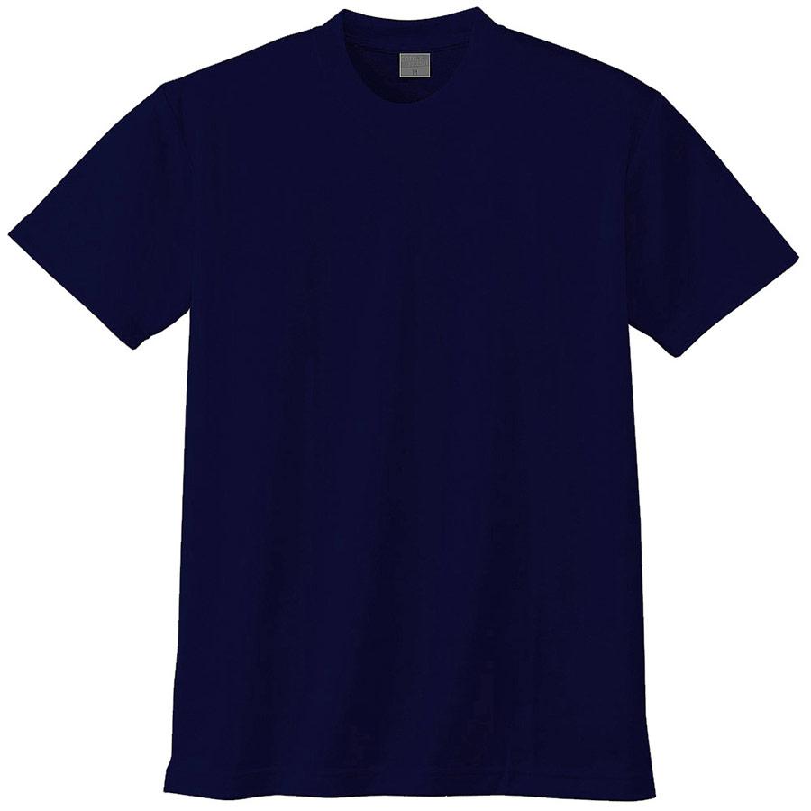 半袖Tシャツ (胸ポケット無) K9008 1 ネイビー 3S〜5L