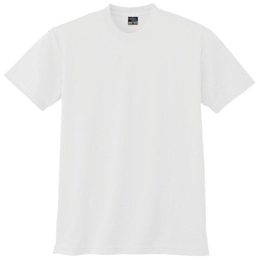 半袖Tシャツ (胸ポケット無) K9008 90 ホワイト 3S〜5L