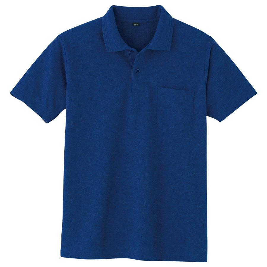 鹿の子 半袖ポロシャツ 001 1 ネービー