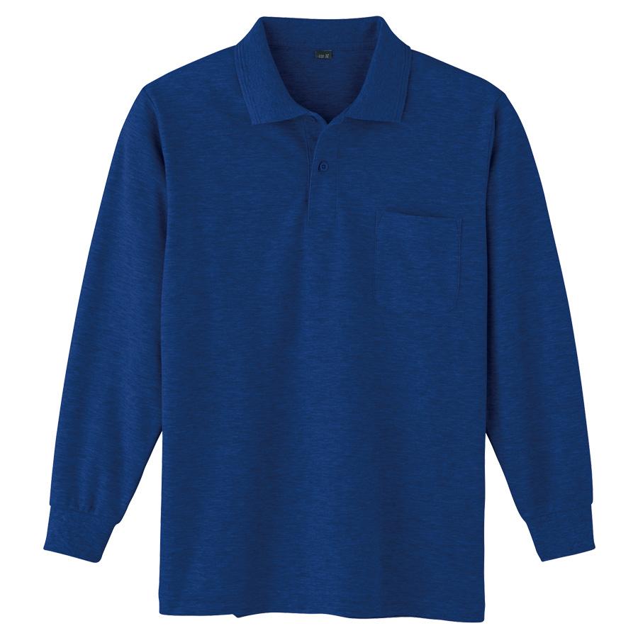 鹿の子 長袖ポロシャツ 002 1 ネービー