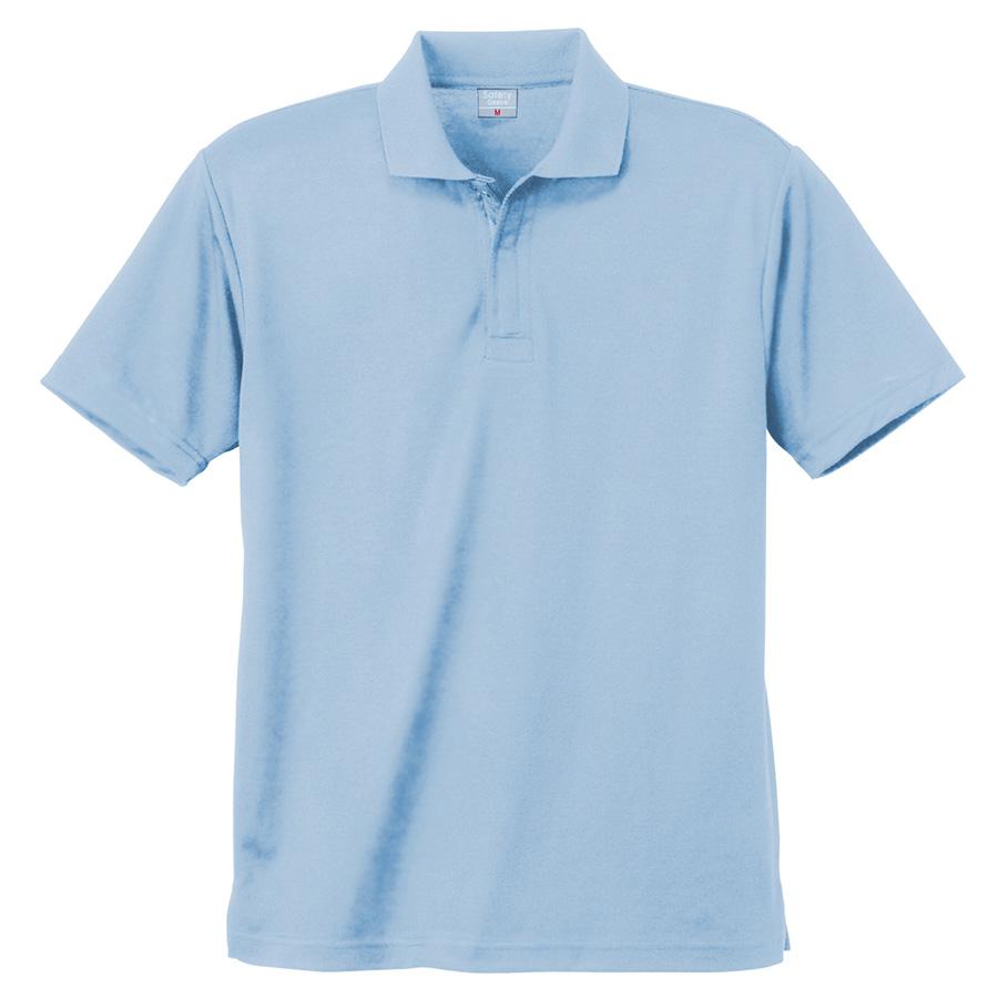 異物混入対策 DRY 半袖ポロシャツ (ネット付き) K801 6 サックス