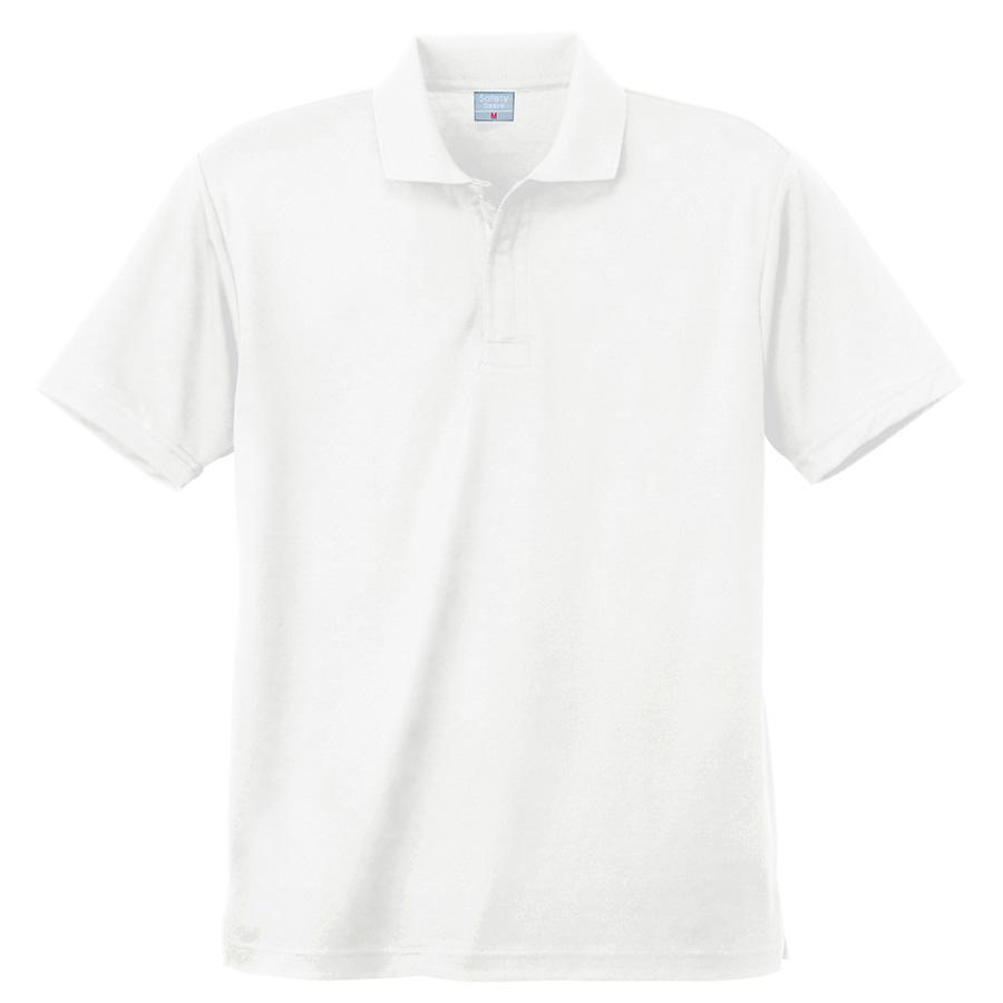 異物混入対策 DRY 半袖ポロシャツ (ネット付き) K801 90 ホワイト