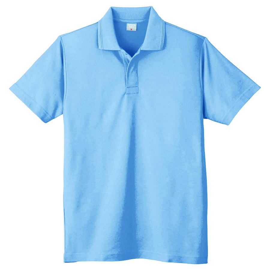 鹿の子 半袖ポロシャツ (ネット付) 802 6 サックス