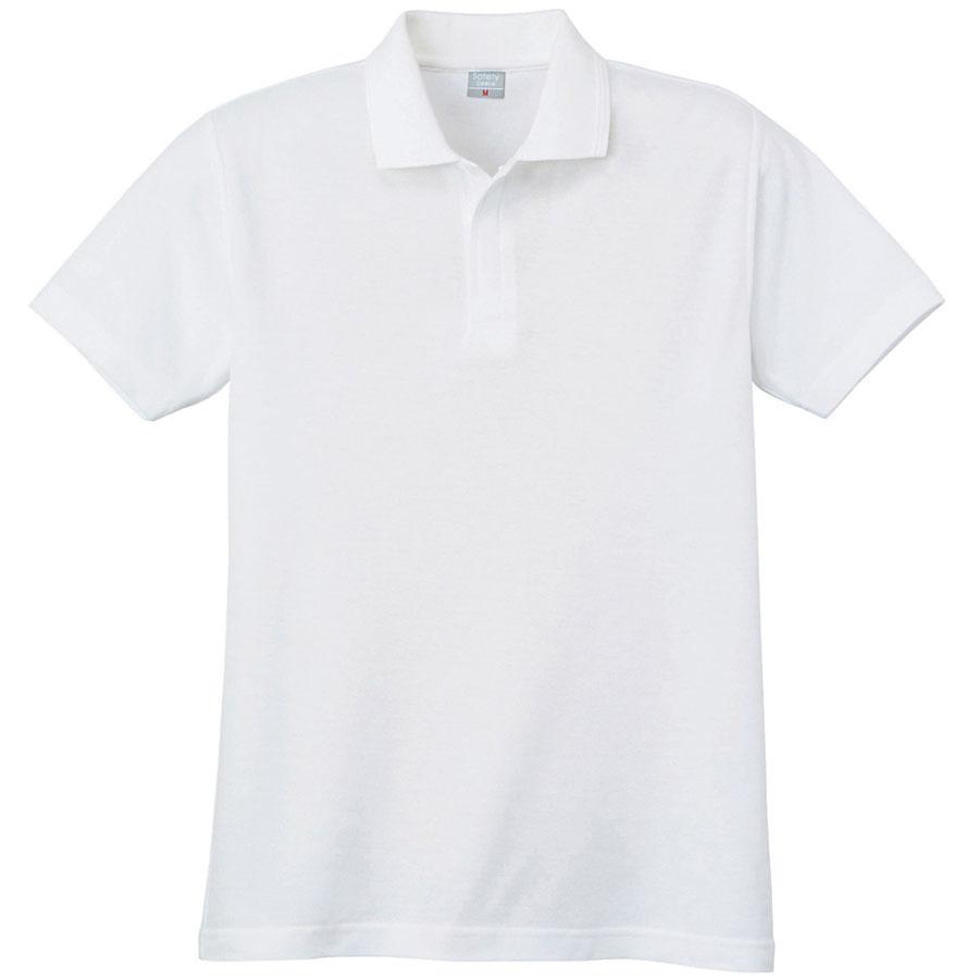 鹿の子 半袖ポロシャツ (ネット付) 802 90 ホワイト