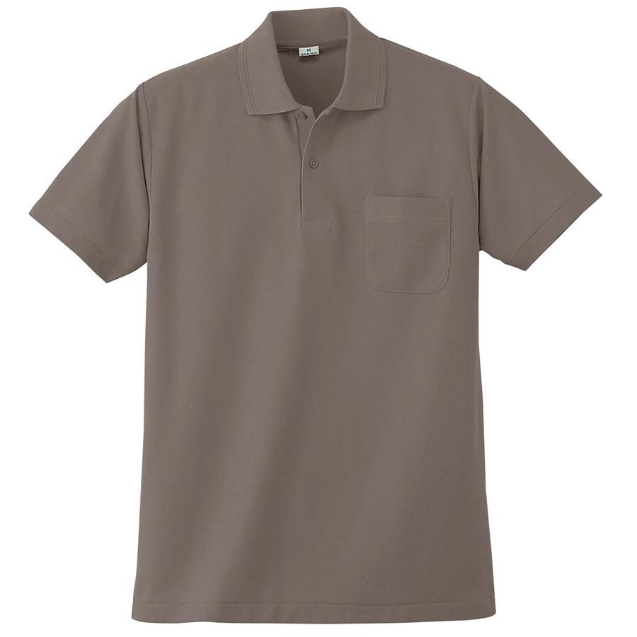 半袖ポロシャツ (胸ポケット付) K272 40 グレー