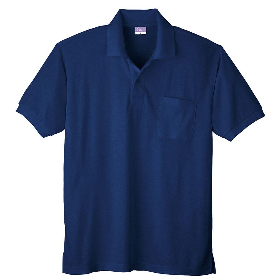 抗菌防臭 半袖ポロシャツ 590 1 ネービー
