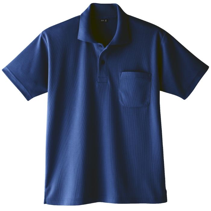 吸汗速乾 半袖ポロシャツ 6001 1 ネービー