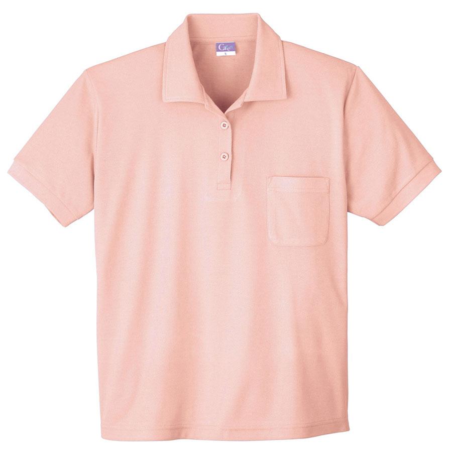 抗菌防臭レディース 半袖ポロシャツ 490 13 ピンク