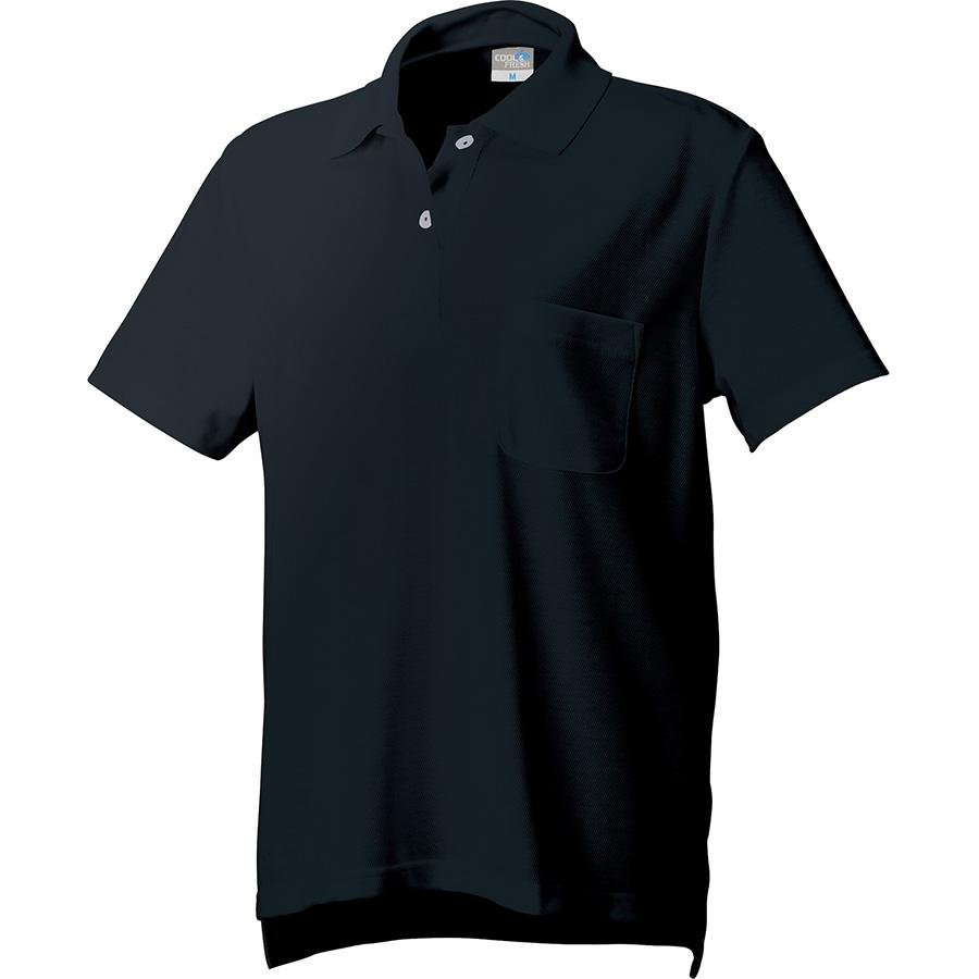 DRY レディース半袖ポロ 9004−80 ブラック