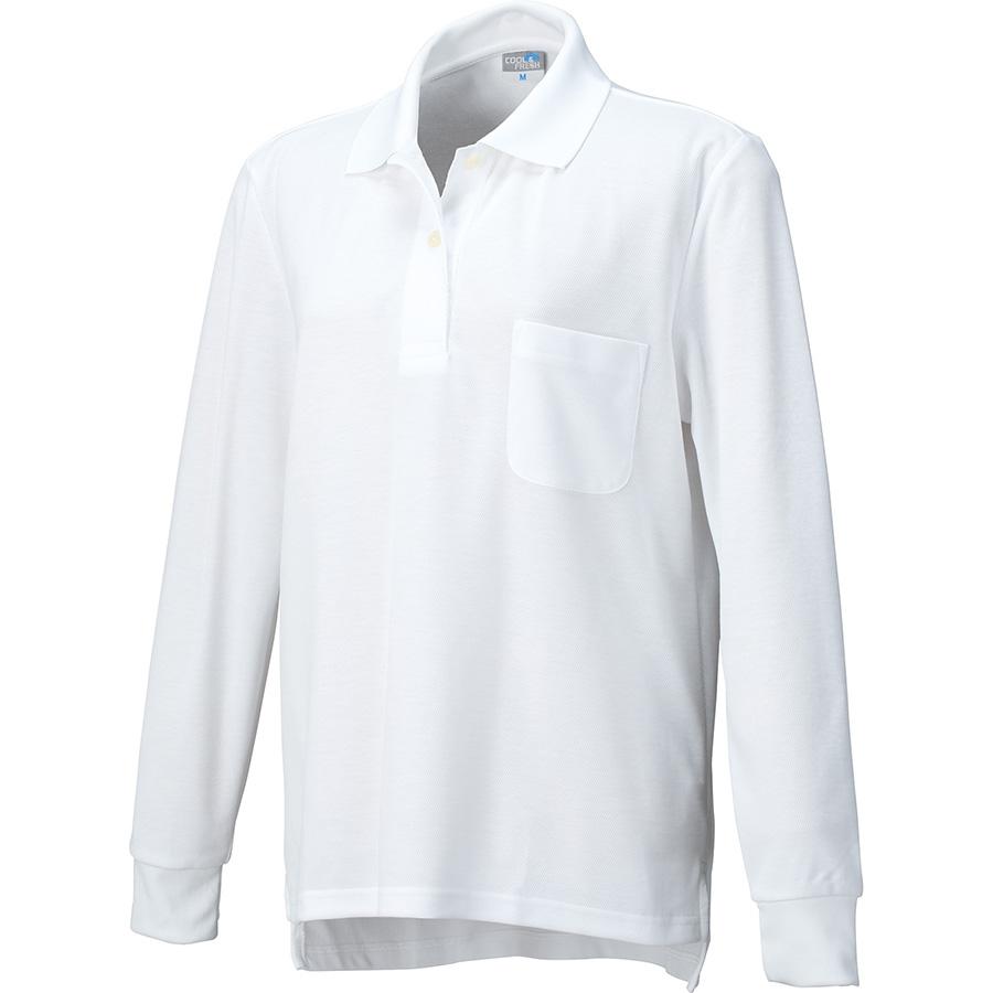 DRY レディース長袖ポロ 9005−90 ホワイト