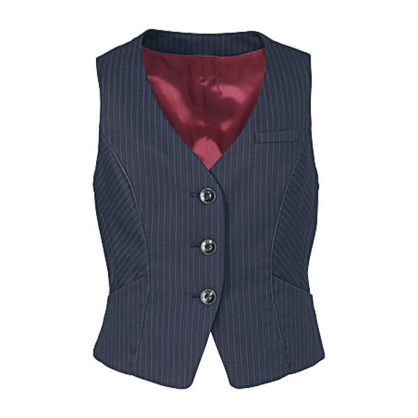 美スラッと(R) Suits ベスト EAV−475 2 ネイビーストライプ