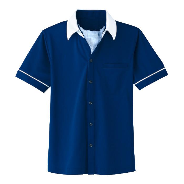 男女共用 半袖ニットシャツ HM−2619 6 海 (4L・5L)