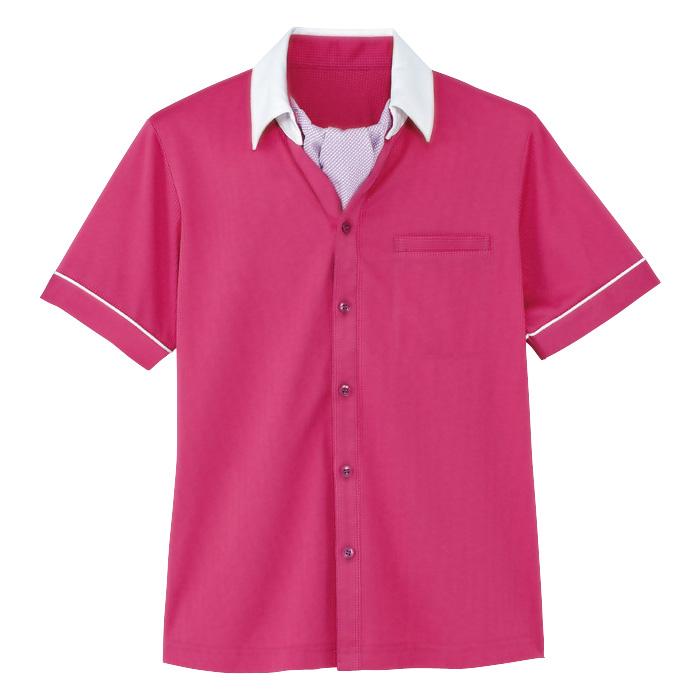 男女共用 半袖ニットシャツ HM−2619 9 バラ園 (4L・5L)