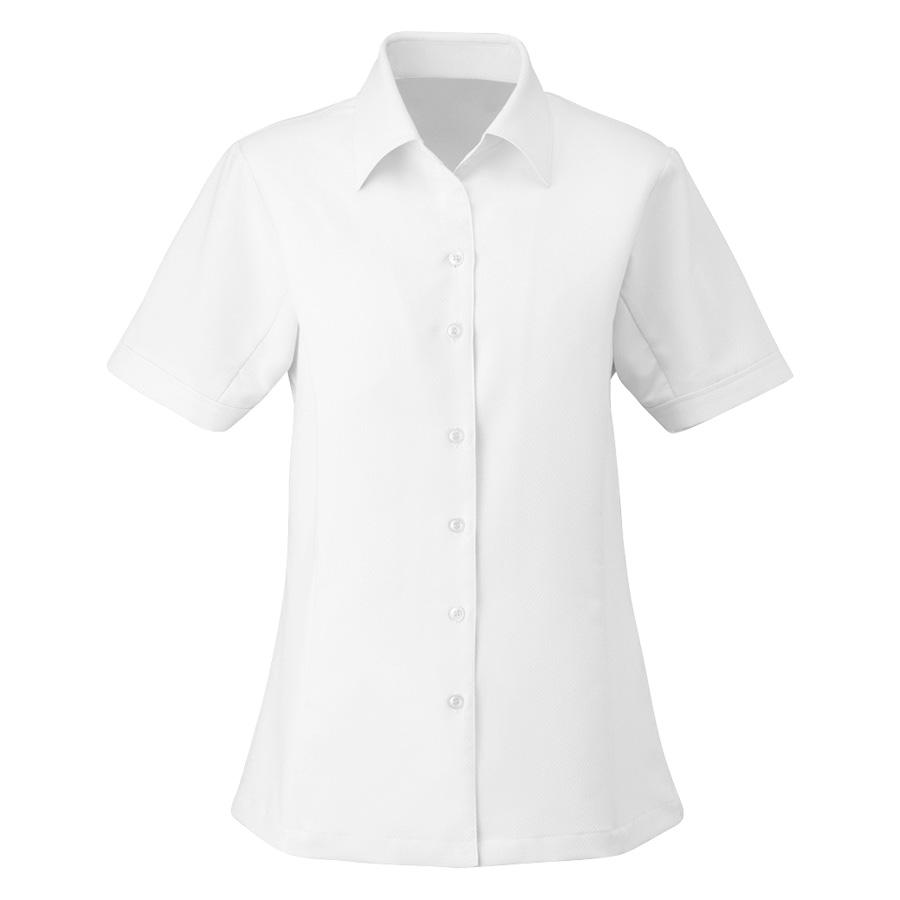 シャツブラウス (半袖) ESB−405 11 ホワイト