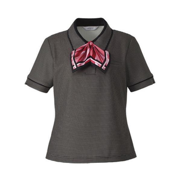 ポロシャツ (リボンつき) ESP−557 10 ブラック