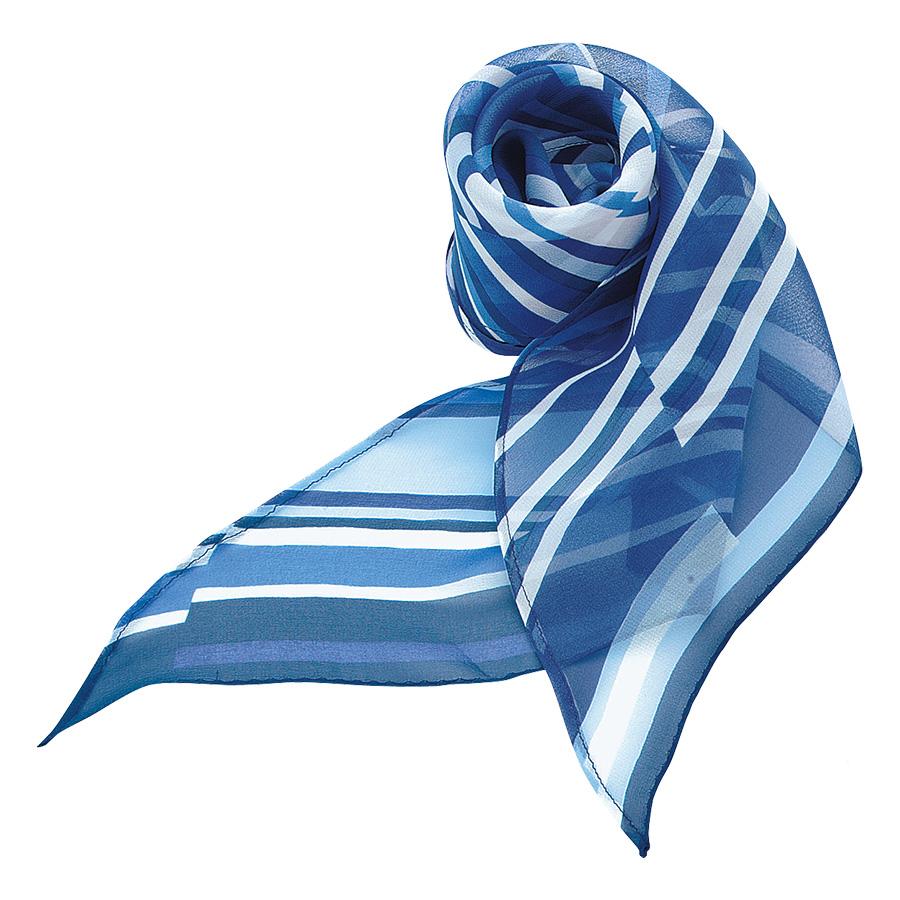 ロングスカーフ EAZ−172 6 ブルー系