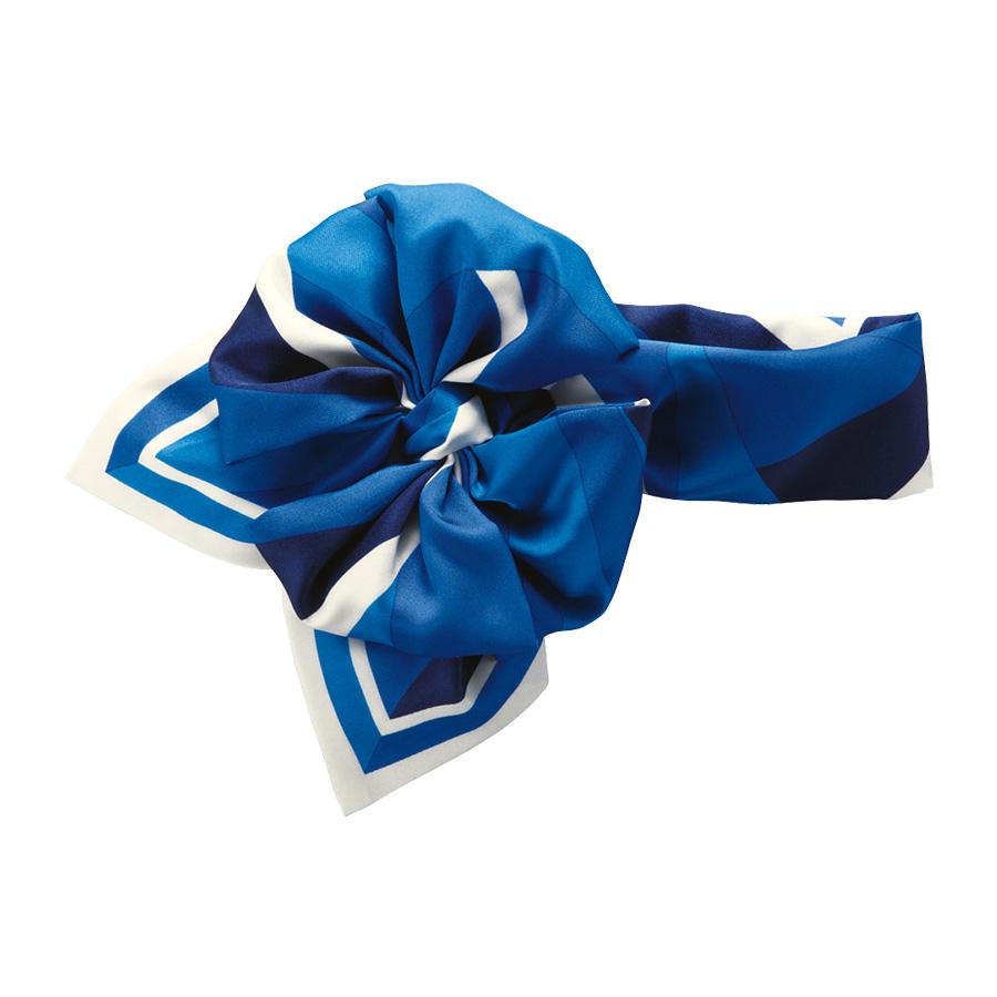 コサージュスカーフ EAZ−657 6 ブルー