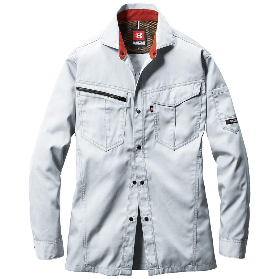 長袖シャツ 6083−5 シルバー (5L)