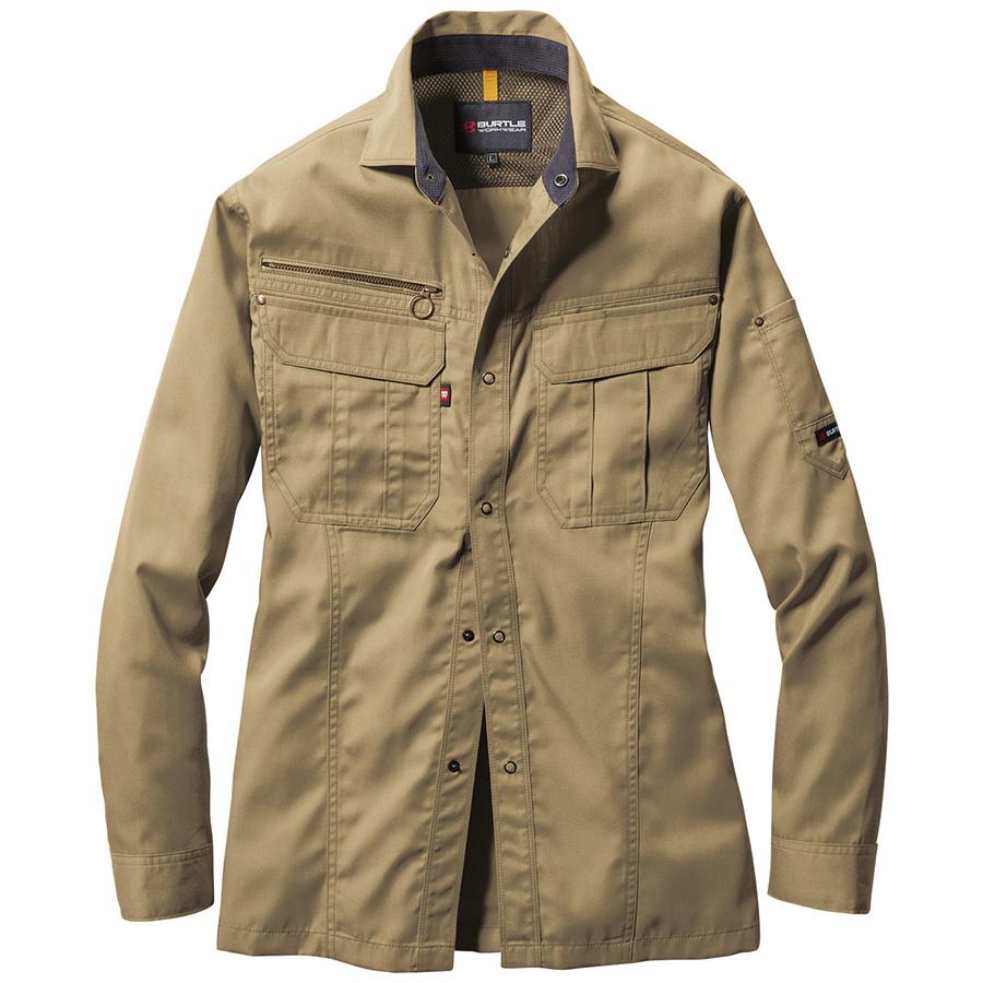 長袖シャツ 6103−23 カーキ (4L)