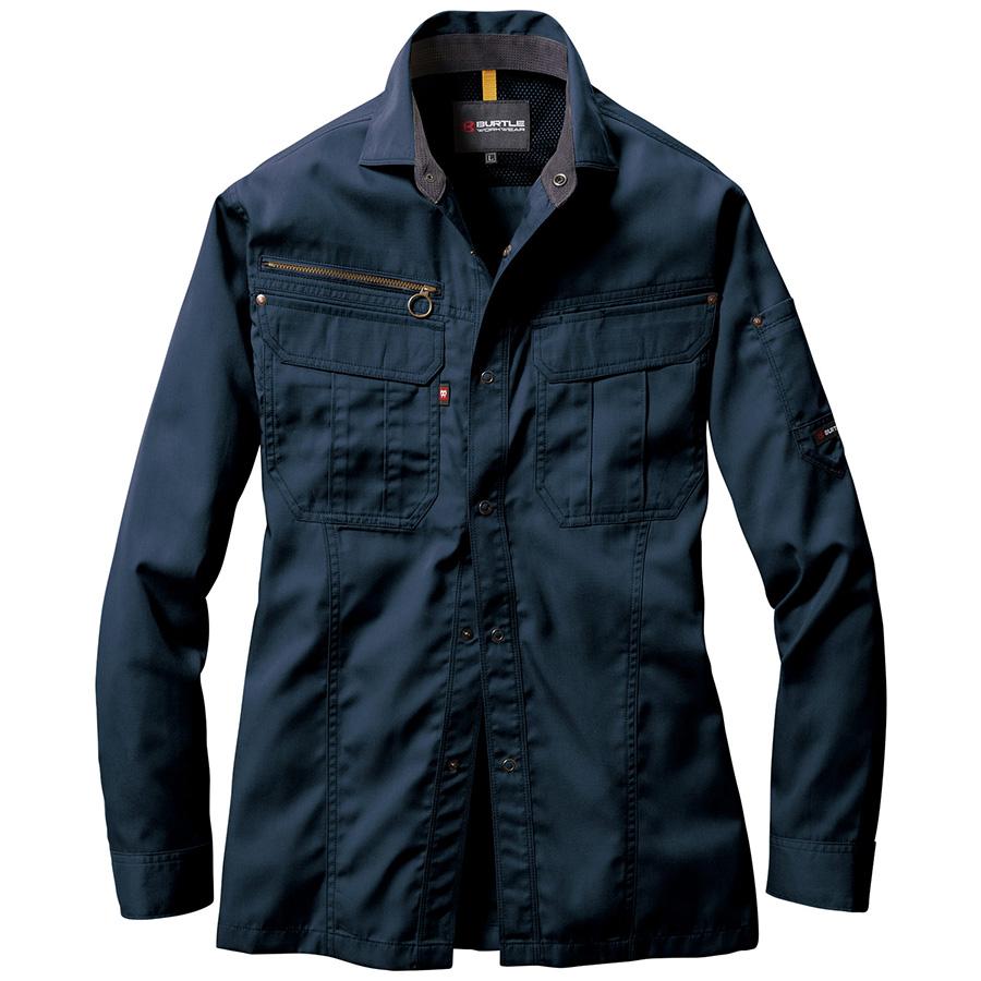 長袖シャツ 6103−3 ネイビー (4L)